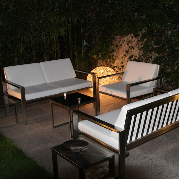 Outdoor-Galerie Edelstahl-Gartenmöbel aus rostfreiem Stahl - outdoor küche edelstahl