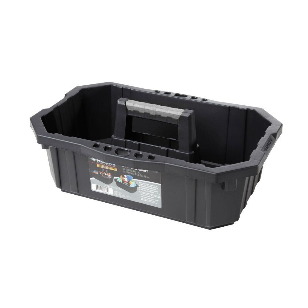 Husky 1 Compartment Professional Tool Caddy Small Parts Organizer