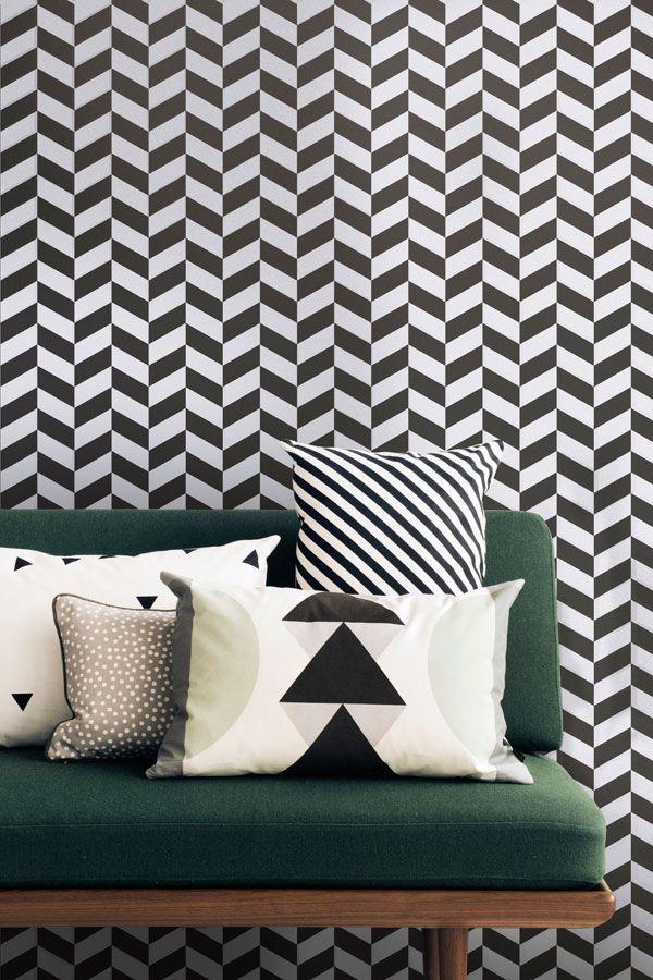 wohntrends 2017 tapeten pinterest tapeten geometrische tapete und tapeten der 70er. Black Bedroom Furniture Sets. Home Design Ideas
