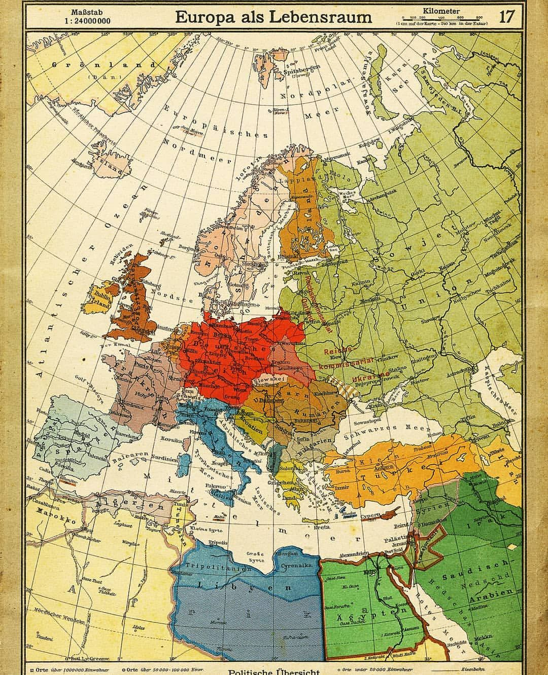 borders of european and surrounding countries in 1943 ps occupied lands are not included as