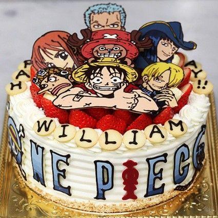 Great one piece birthday cake.. love it   Pasteles   Pinterest ...