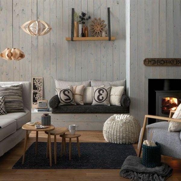 Designermöbel wohnzimmer  Beispiele für Wohnraumgestaltung-Designer Wohnzimmer mit Nest ...