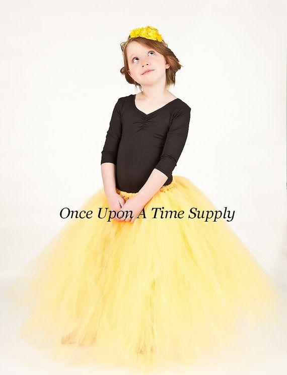 5ae61acd4cb8 Light Yellow Long Tutu Skirt - Little Girl Child Size - 12M 2T 3T 4t 5 6 7  8 10 12 Photo Prop - Wed | Long tutu skirts | Long tutu skirt, Long tutu,  Skirts