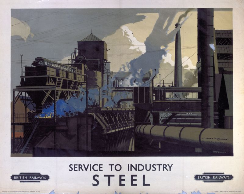 Service to Industry - Steel poster Wilkinson, Norman; British Railways (London Midland Region) 1948-1960..16