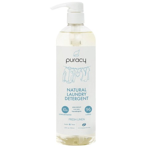 Puracy Fresh Linen Natural Liquid Laundry Detergent 24 Fl Oz With Images Laundry Liquid Laundry Detergent Liquid Laundry Detergent