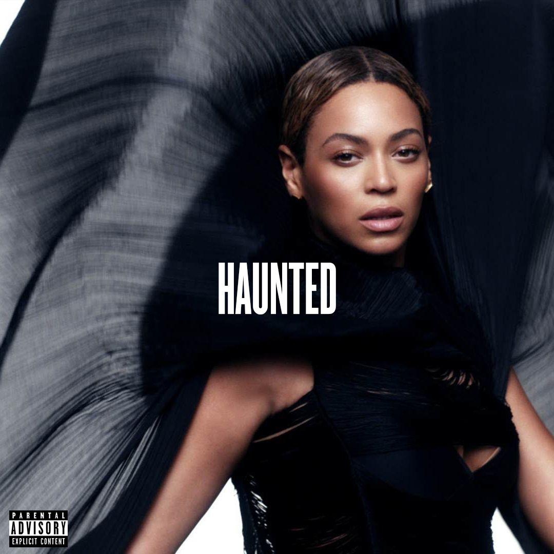 Haunted - Single, Beyoncé & Boots, 2013; font: Knockout Medium.