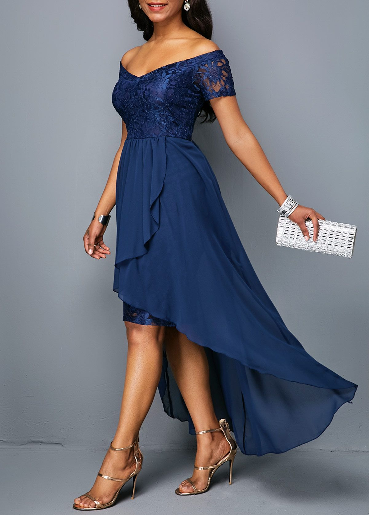 Short Sleeve Off The Shoulder High Low Dress Rotita Com Usd 34 98 Dresses Fashion Dresses Online Women S Fashion Dresses [ 1674 x 1200 Pixel ]