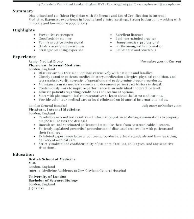 Sample Physician Cv Template Samples Of And Resume Resume Format Resume Template Resume Design Template Cv Template Download