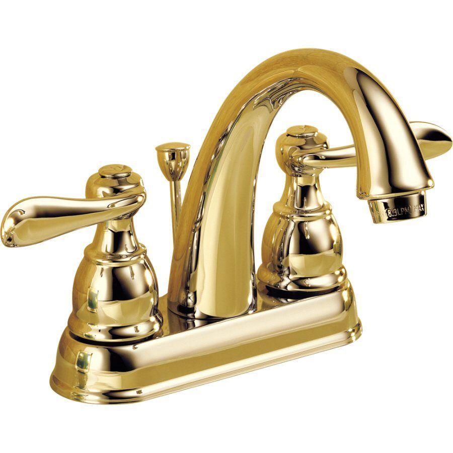 Delta B2596lf Pb Windemere Centerset Bathroom Build Com Delta Faucets Bathroom Faucets Sink Faucets
