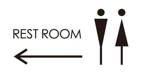 男女トイレのピクトグラム ピクトグラム 標識のデザイン サイン