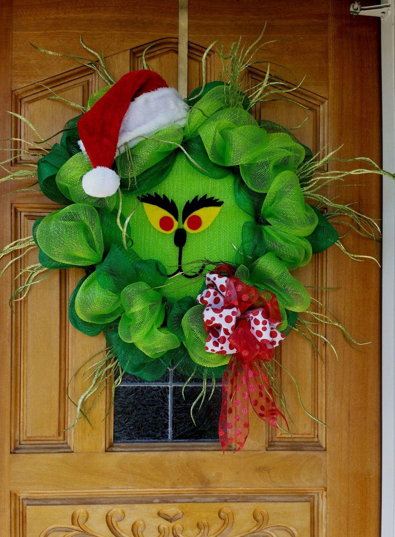 Grinch Wreath by YallTalkFunny on Etsy https//www.etsy
