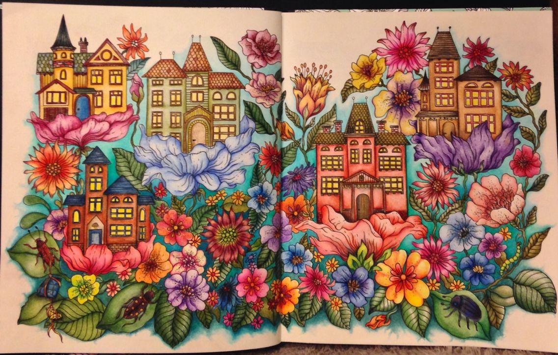 Houses And Flowers Kleurboek Kleuring Kleuren