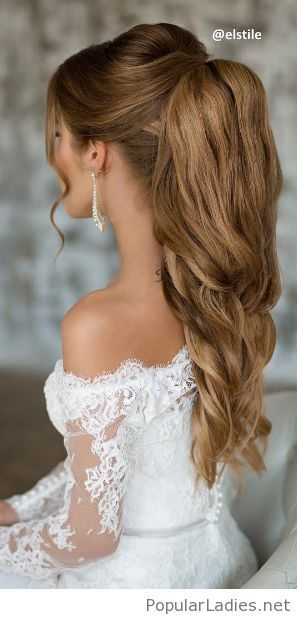 Amazing Wedding Ponytail Inspiration Lovely Earrings Too