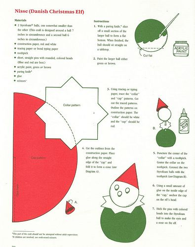 danish crafts   Crafts - Danish Christmas Elf BK0102