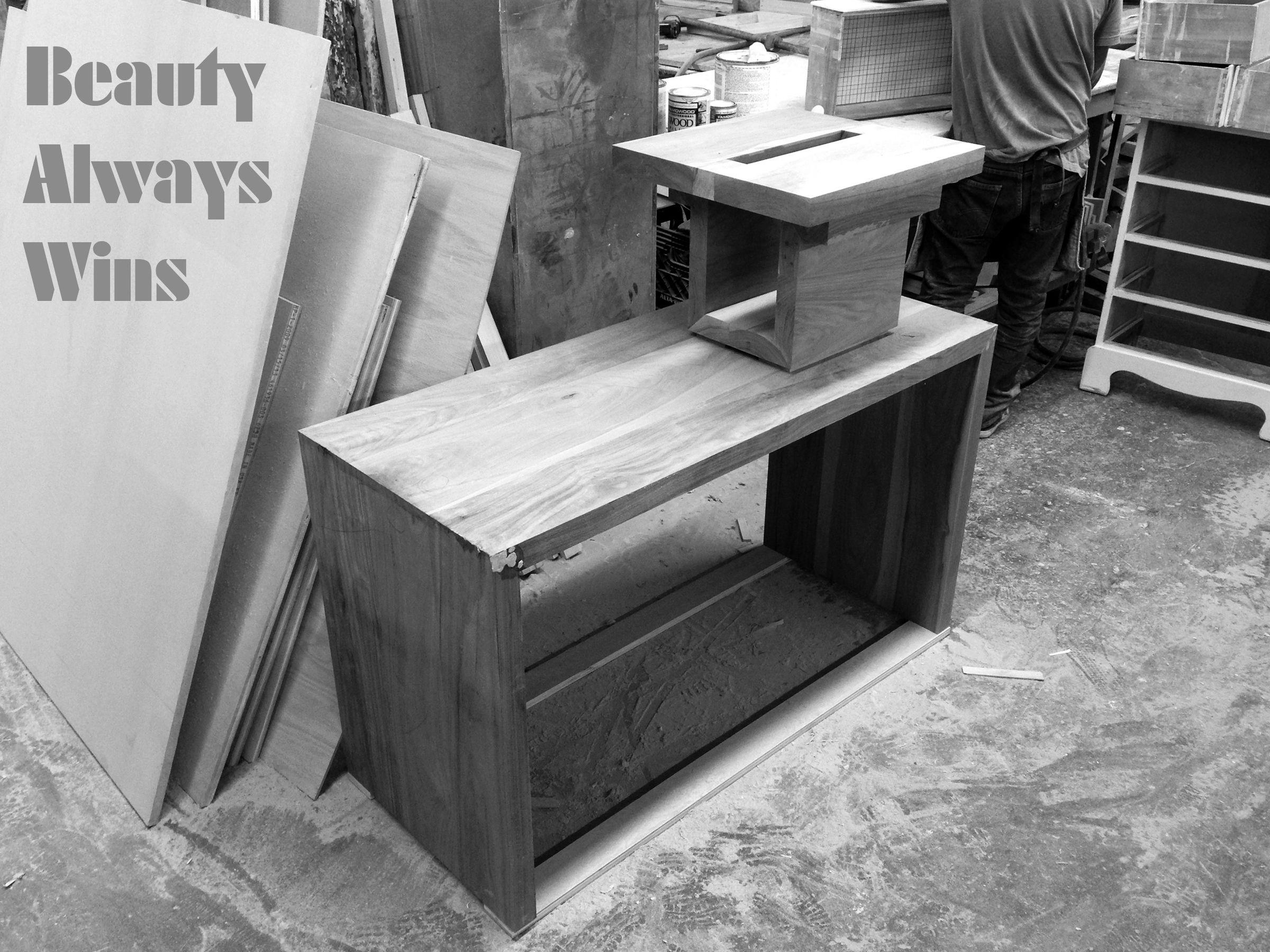 SQR Dresser + SQ18 Table, in Walnut, as always.