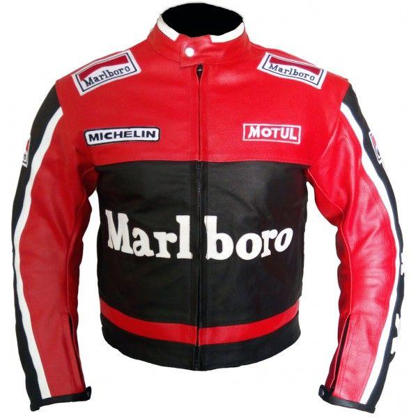 Marlboro Motorcycle Racing Leather Jacket Men Jackets Men Fashion Leather Jacket Men Mens Jackets