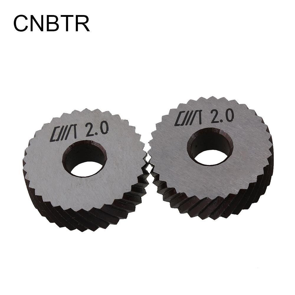 2 x Metal Knurling Tool Diagonal Wheel Linear Knurl 2mm Pitch 8 x 26mm