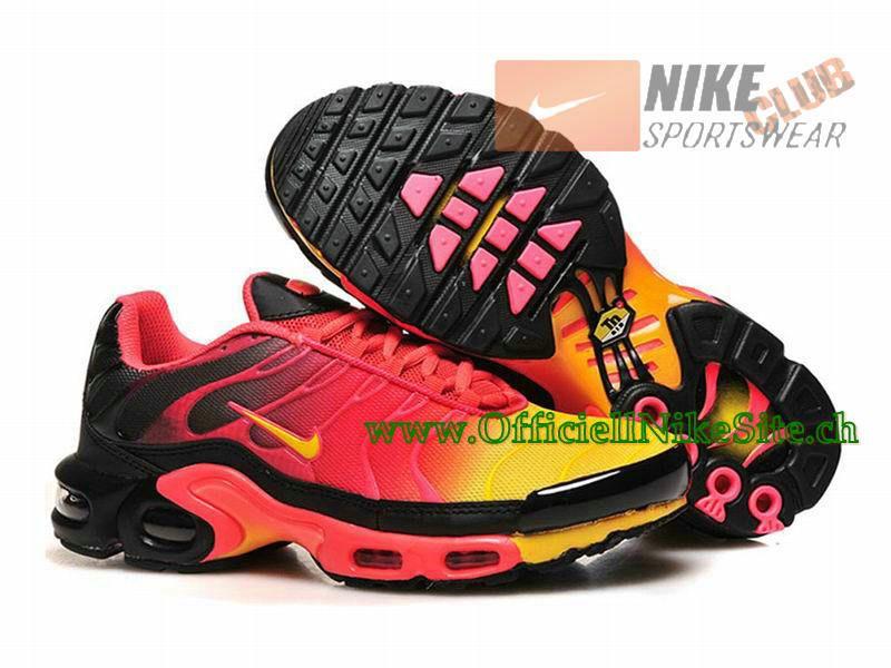 77c6f022d58 Nike Air Max Tn Requin Tuned 2015 Chaussures Nike Officiel Pour Homme  Rouge Jaune Noir