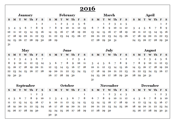 2016 Calendar Canada Printable New Year 2016 Templates Calendar Template Excel Calendar Template Yearly Calendar Template