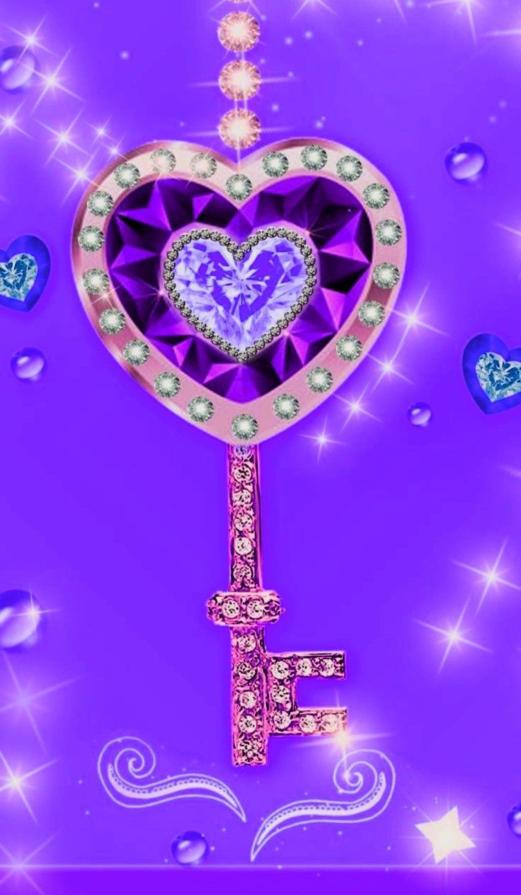 Images By Gennyhilton On Purple   Bling Wallpaper, Heart Iphone Wallpaper, Gold Wallpaper Phone AE0
