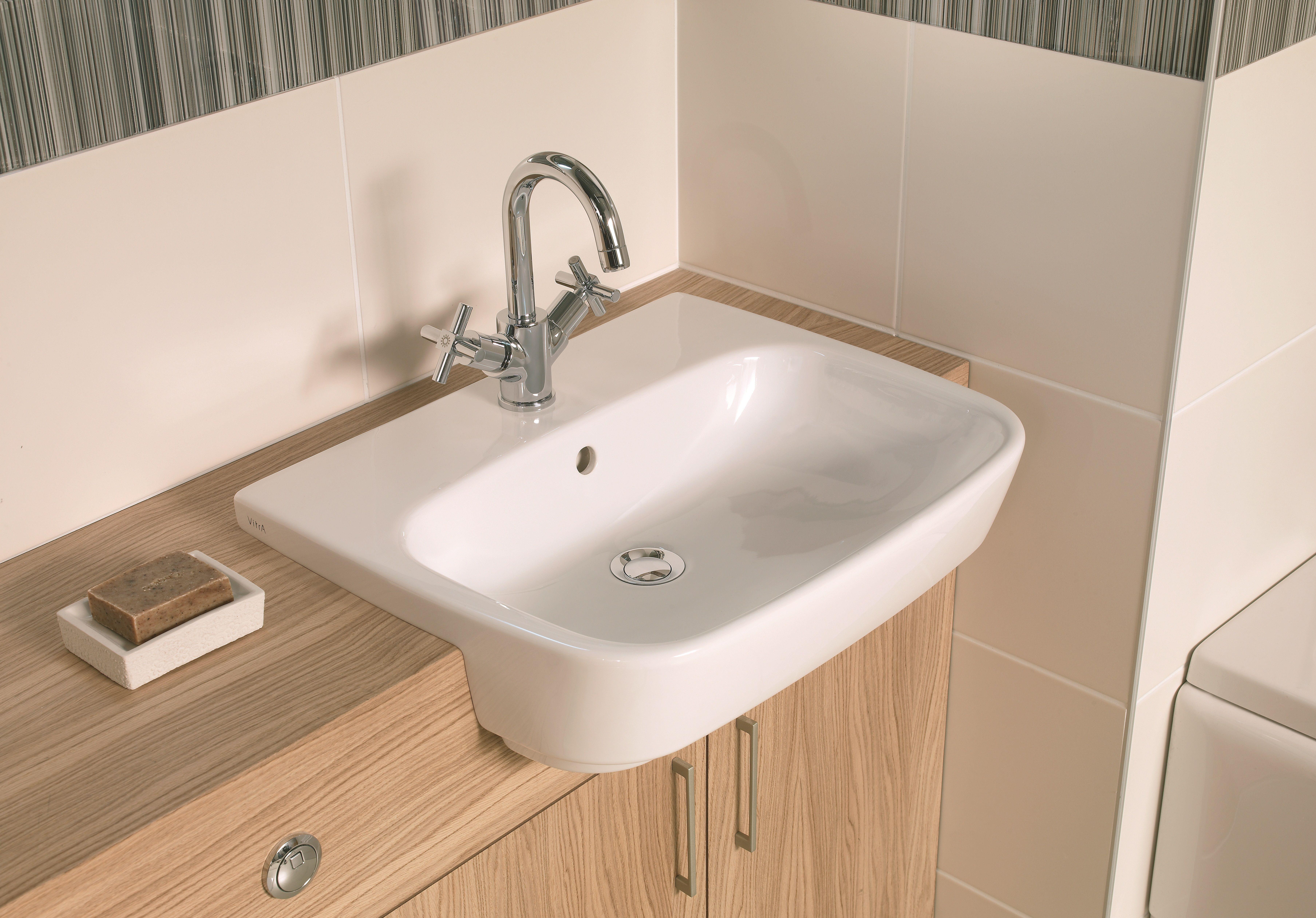 18++ Semi recessed bathroom sink info