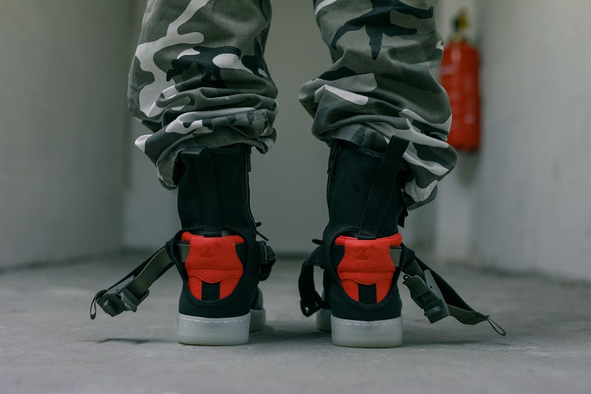 new concept 9ef88 b9341 An on-foot look at the ACRONYM x NikeLab Air Force 1 Downtown, including a  better look at the sneakers technical details.