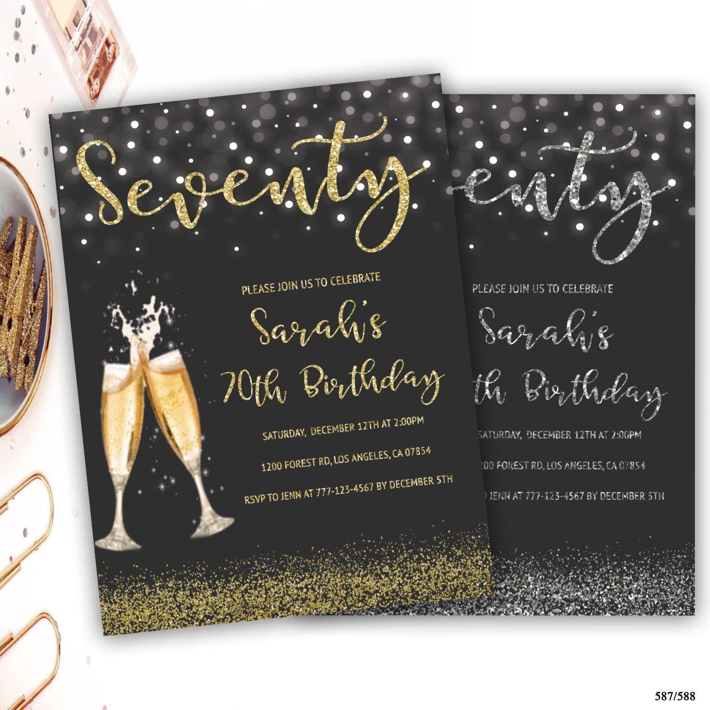 Einladungskarten Geburtstag Einladung 70 Geburtstag Einladung
