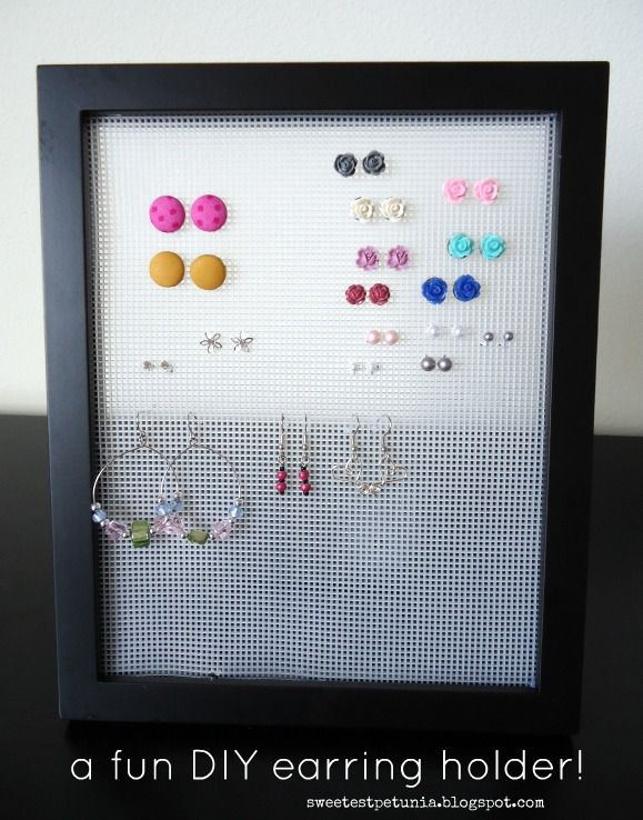 The Sweetest Petunia organize your earrings a DIY project so