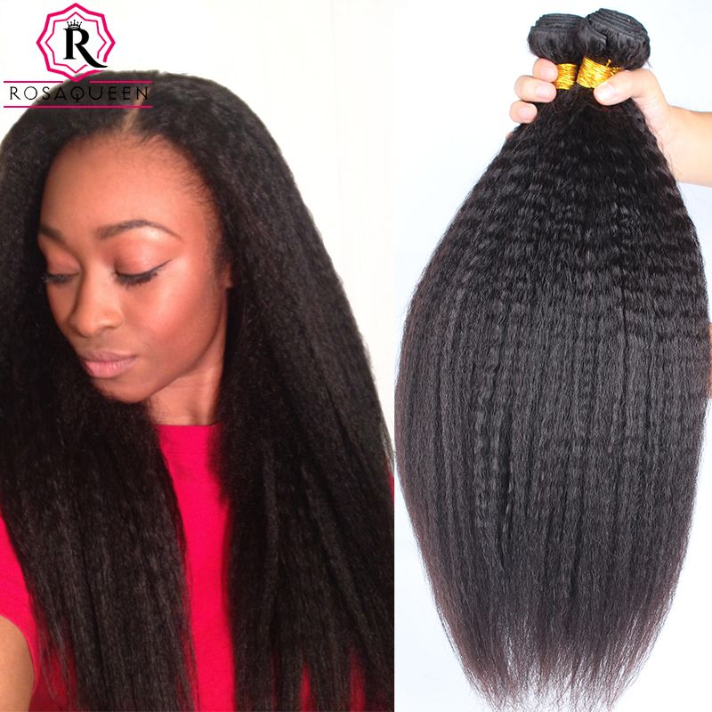 Kinky Straight Hair 7a Mink Brazilian Hair Weave Bundles Yaki