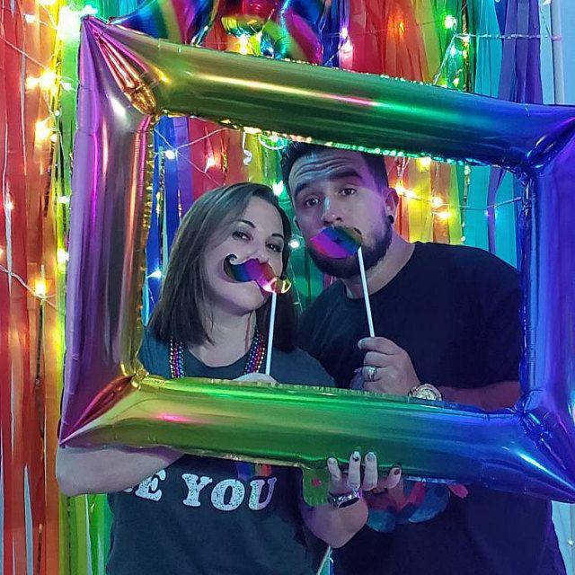 Colorful Backdrop, Wedding Backdrop, Photo Booth, Streamer Backdrop, Fringe Backdrop #streamerbackdrop