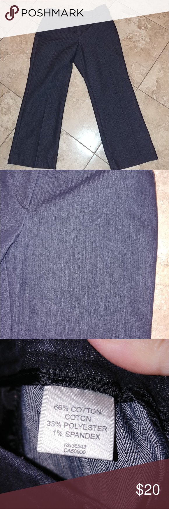 LAST CHANCE{van heusen} trouser jeans Van Heusen Size 12 R Nice denim trouser pants Wide legs at bottom Dark blue denim rinse Stretch ************** Van Heusen Pants Trousers