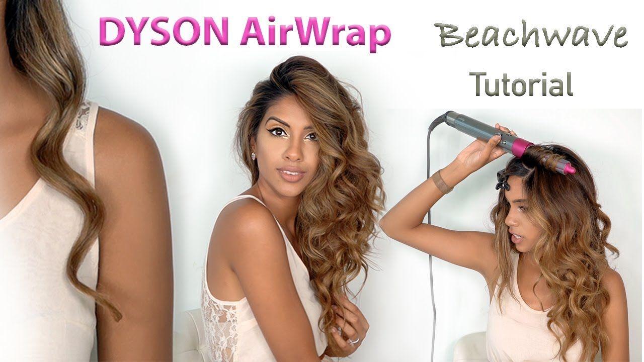 Dyson Airwrap Beach Wave Tutorial Ariba Pervaiz Youtube Beach Waves Tutorial Beach Wave Hair Wavy Hairstyles Tutorial