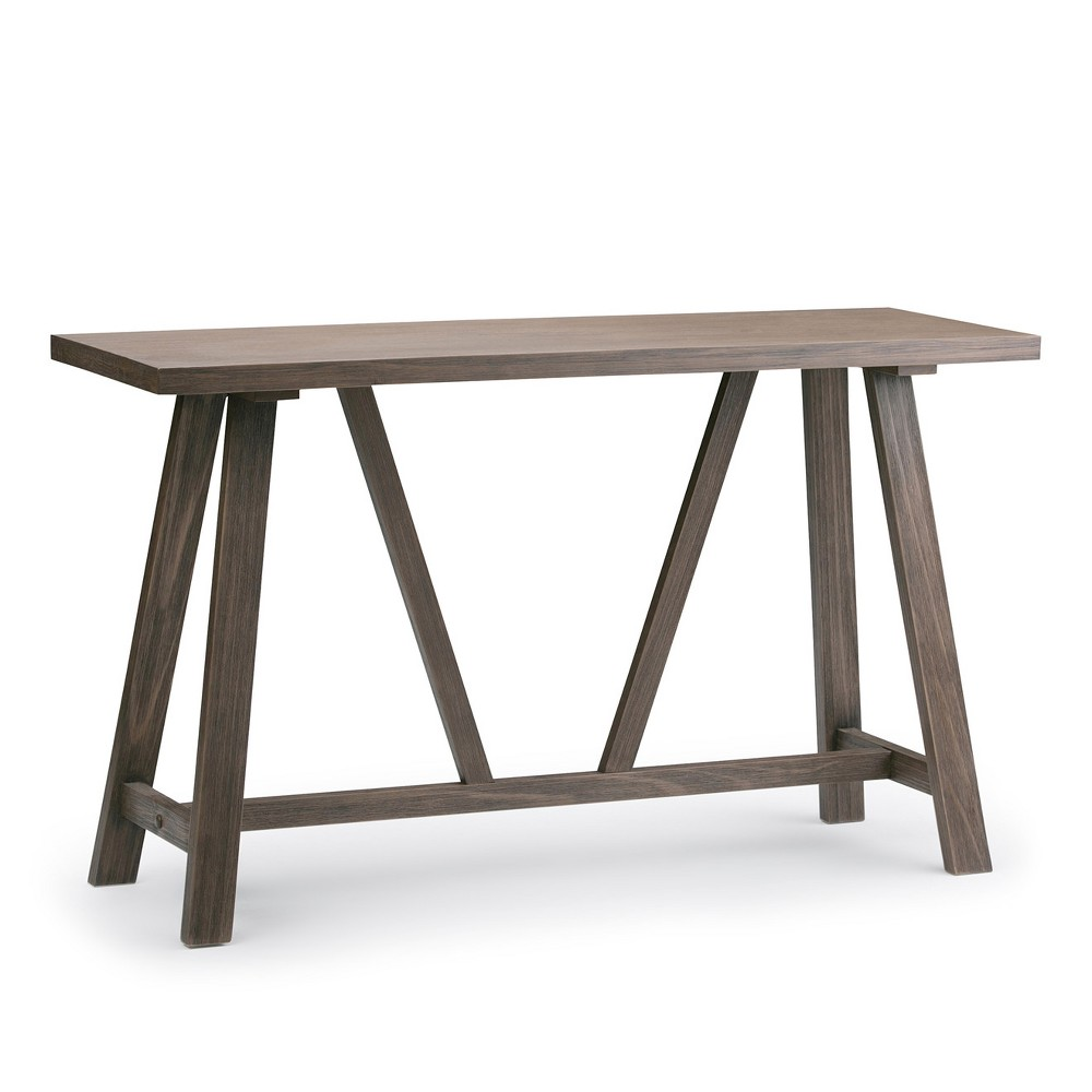Dylan Console Sofa Table Driftwood Finish Simpli Home