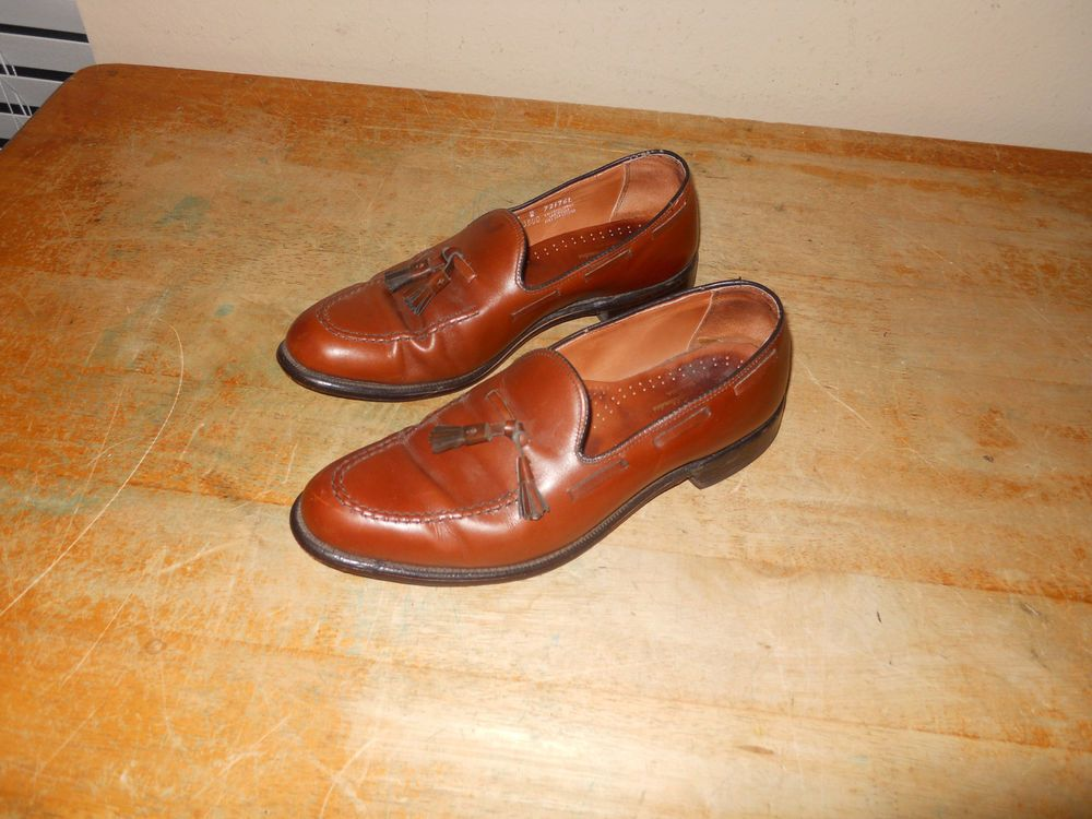 ef5ca4ce6bd MADE IN USA KEITH HIGHLANDERS GRENADIERS TASSEL LEATHER BROWN SHOES 10 D B   KEITHHIGHLANDERS  LoafersSlipOns