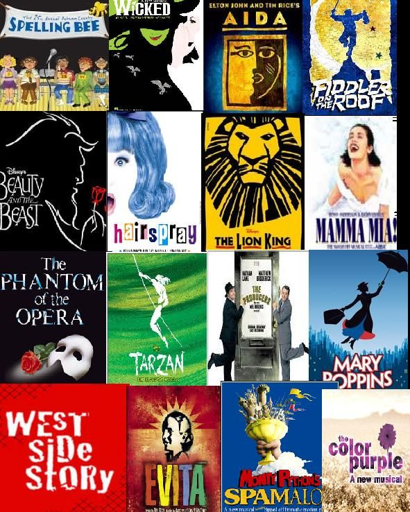 Broadway Musical Collage Wallpaper I Love Broadway Musicals Musical Wallpaper Musicals Broadway