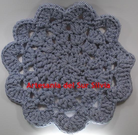 Alfombra Para Mascotas Hilo De Tela O Trapillo Crochet