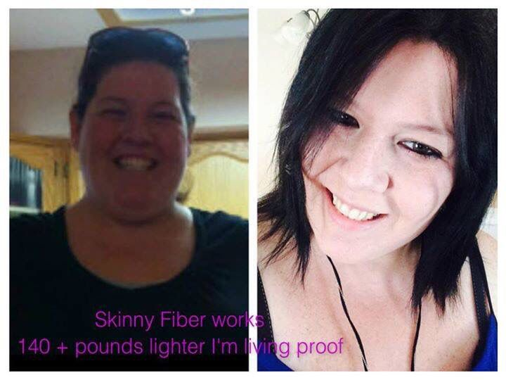 Way to go girl!  Kimberly says: Skinny Fiber has helped me lose over 140 pounds and has changed my life inside out. Only 2 capsules twice a day. All natural, no stimulants. That easy. Any questions please ask, I am here to help !!!