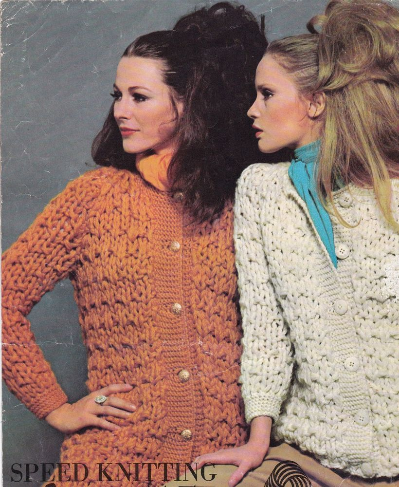 Vintage Knitting Pattern Instructions to Make a Ladies Womens SPEED ...