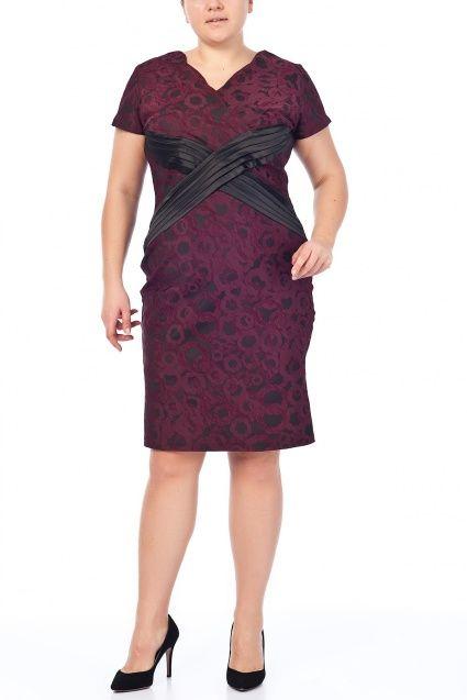 Büyük Beden Bordo Elbise 65N2014