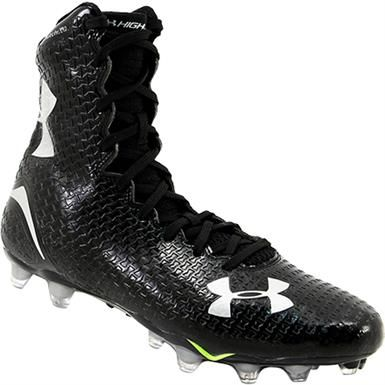 all black under armour highlight cleats