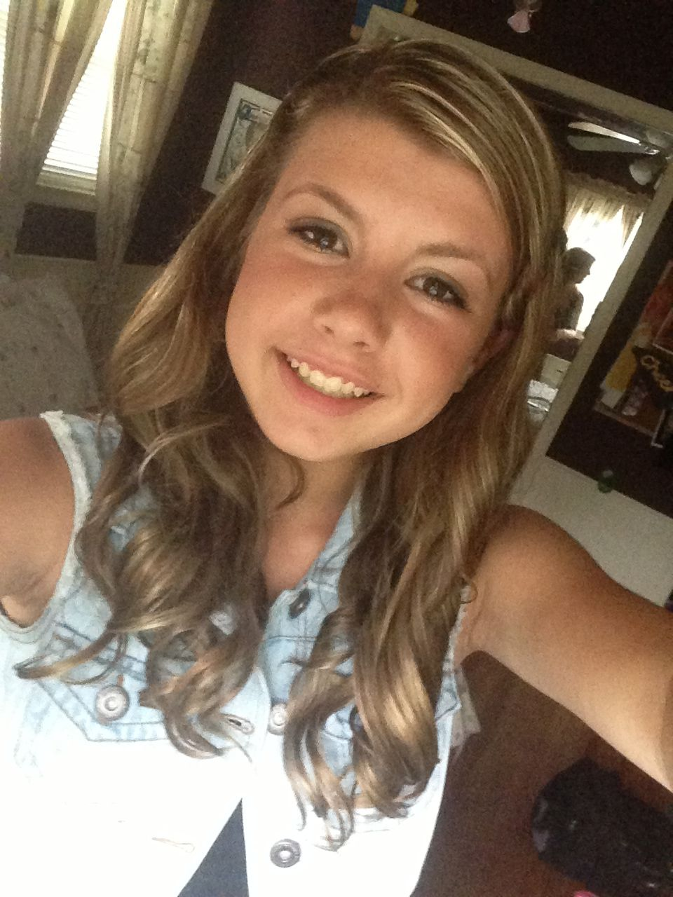 Getting all ready for th grade dance no filter my beautiful baby