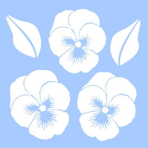 Pansy Flower Stencil Flower Template Flower Stencil Pansies Flowers Pansies