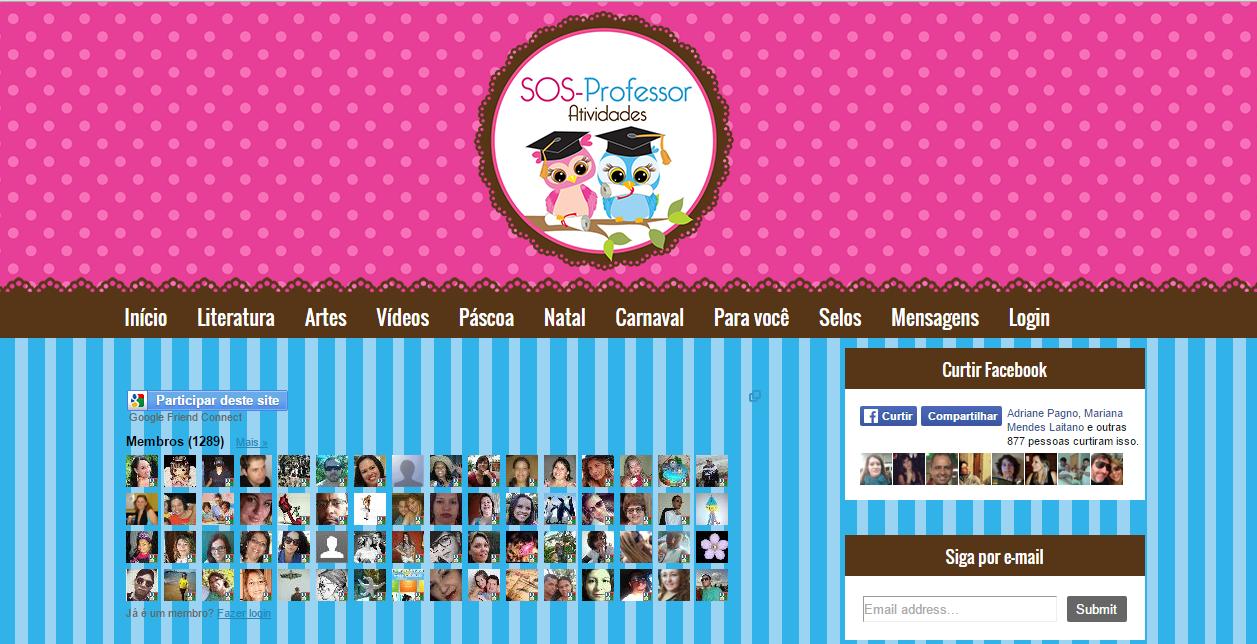 Conheça e participe do meu blog SOSPROFESSOR-ATIVIDADES. Obrigada, bjs