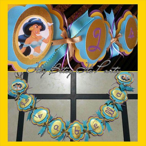 Inspired Banner-Arabic Banner-Aladdin,Banner-Jasmine Birthday Photo banner Banner 12 month Princess Jasmine-Aladdin