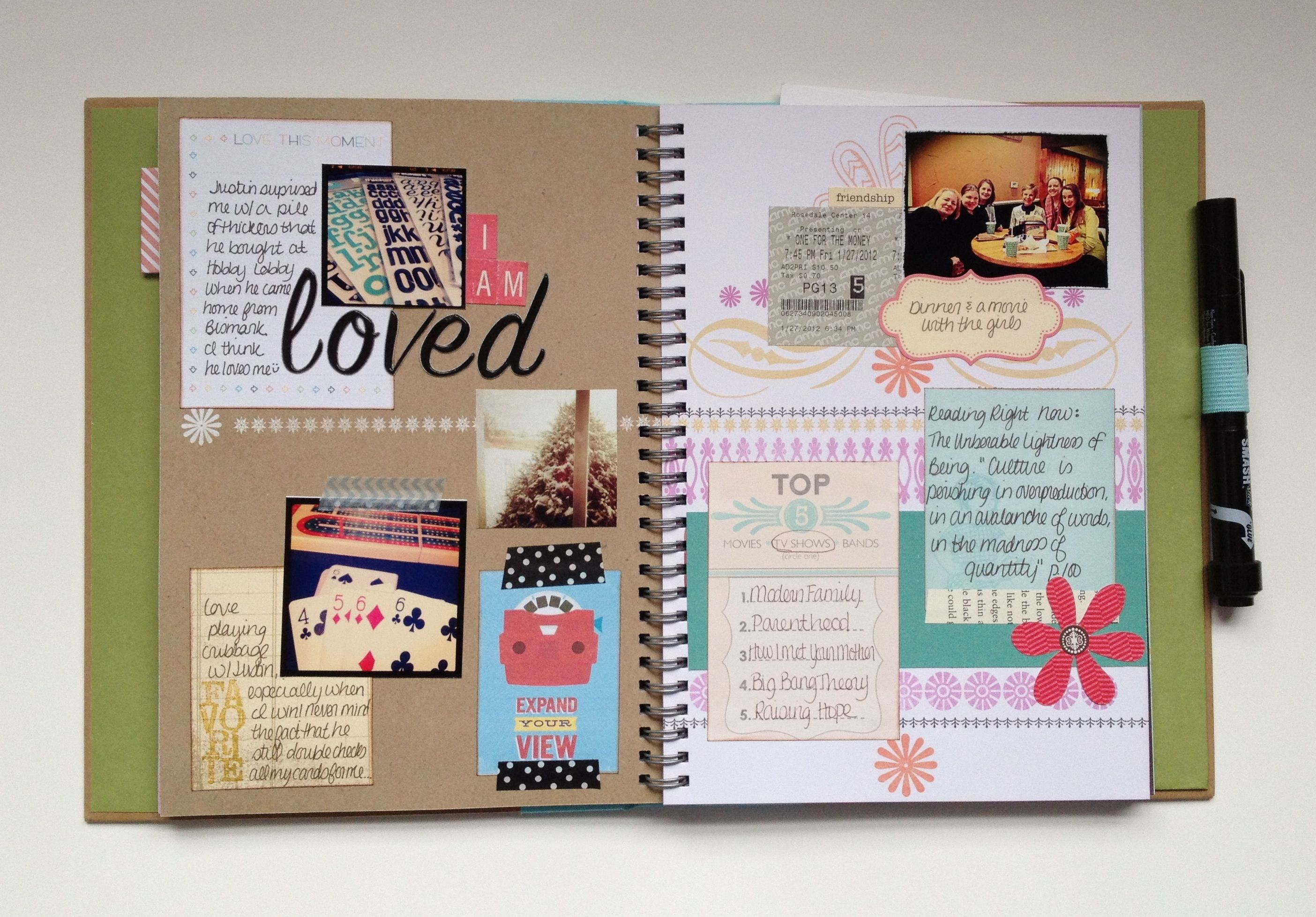 coffee lot of 7 scrapbook pages