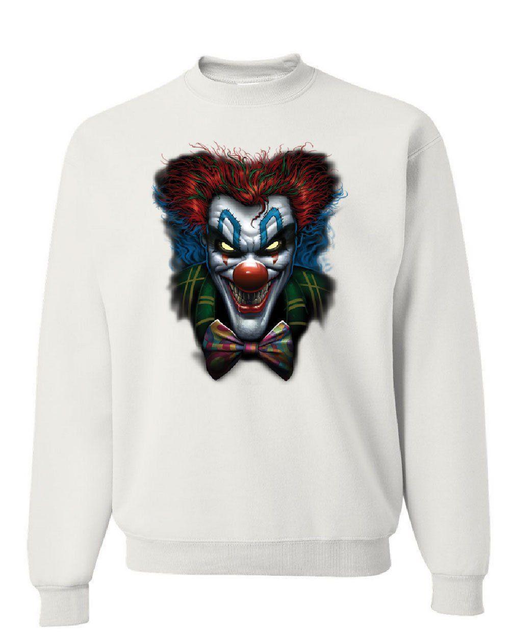 Psycho Clown Sweatshirt Nightmare Evil Creepy Scary Horror Fobia Sweater