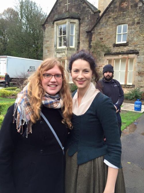 jamesandclairefraser:  Cait on set of Season 2 - December 4th [x/x]
