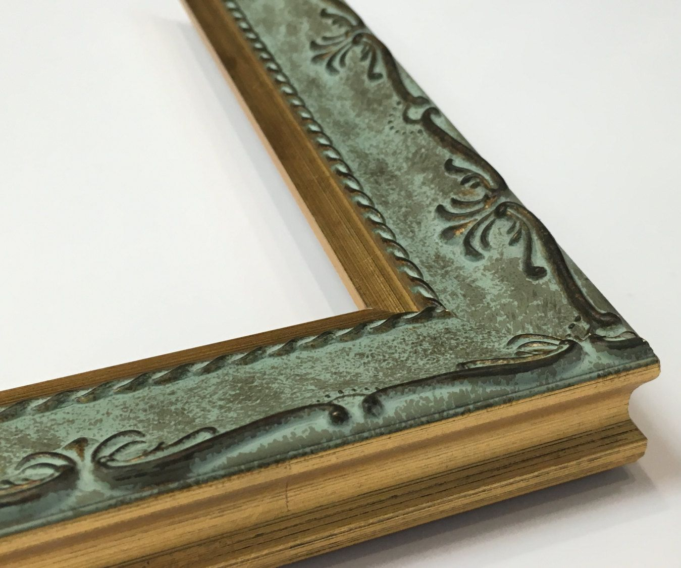 Antique Style Framemint Green Frameornate Picture Etsy Ornate Picture Frames Gold Ornate Picture Frames Picture Frames