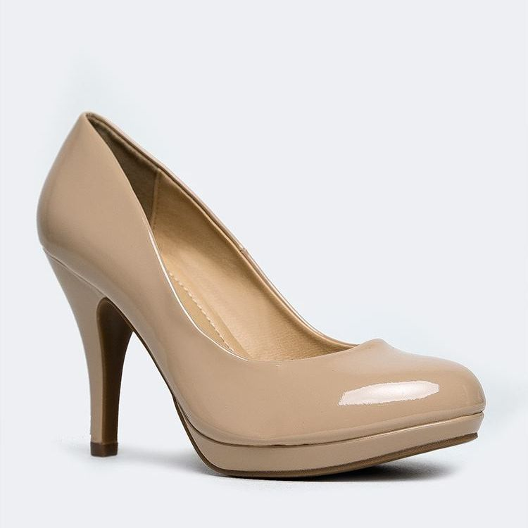 For the L.K. Bennett Sledge Taupe Patent Pumps | Heels