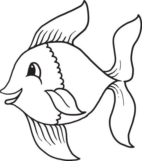 cartoon fish coloring page 1 pinterest cartoon fish and quilling